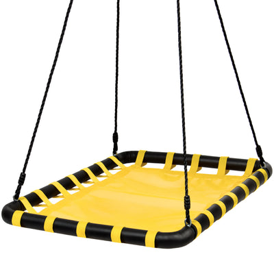 "Best Choice Products 40"" x 30"" Giant Heavy-Duty Mat Platform Swing For Multiple Kids, Tree Swing- Yellow"
