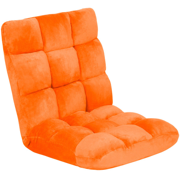 Adjustable Memory Foam Gaming Floor Chair - Orange