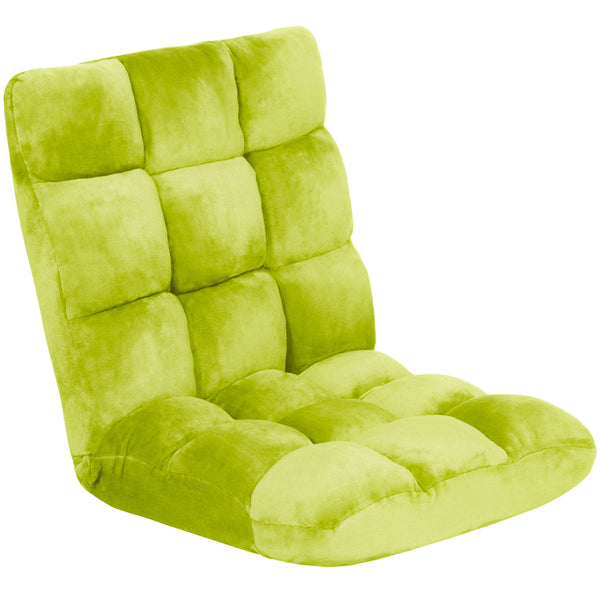 Adjustable Memory Foam Gaming Floor Chair - Green