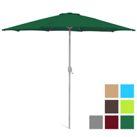 Deals on BCP 9ft Outdoor Market Patio Umbrella w/Crank Tilt Adjustment