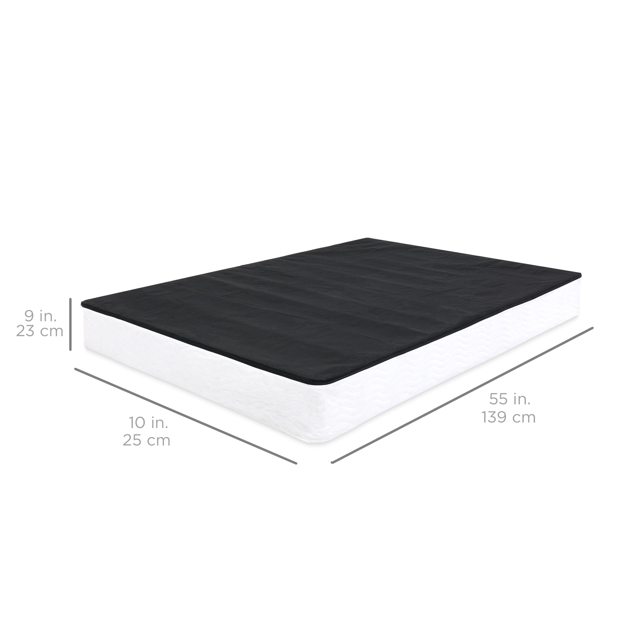 Box Spring Mattress Foundation w Cover Full Size – Best Choice