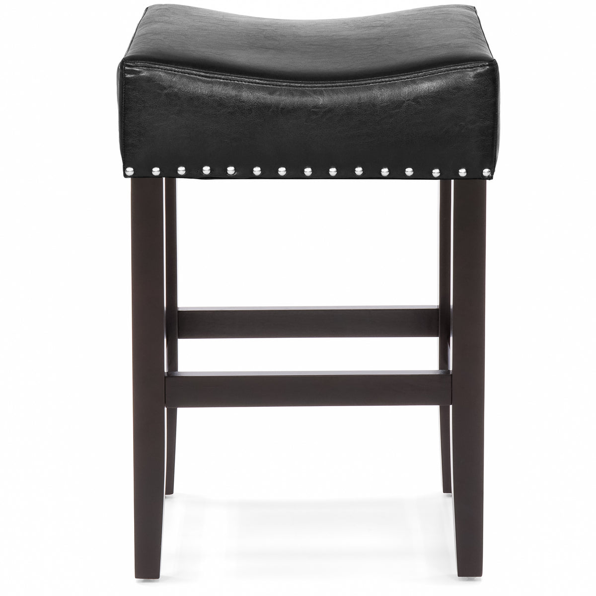 Set Of 2 Backless Leather Counter Stool Seat Accents W