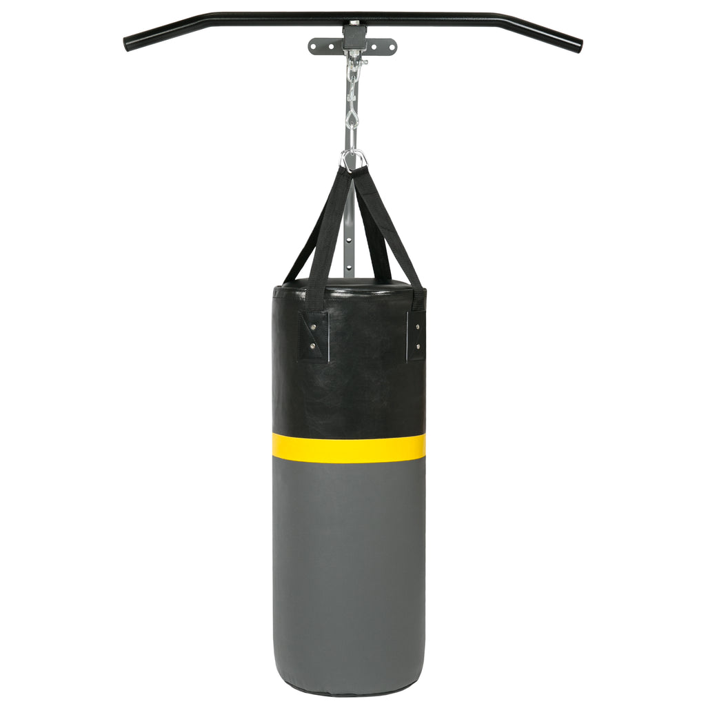 Best Choice Products 52-Pound Training Heavy Punching Bag W/ Wall Mount Rack, Pull Bar