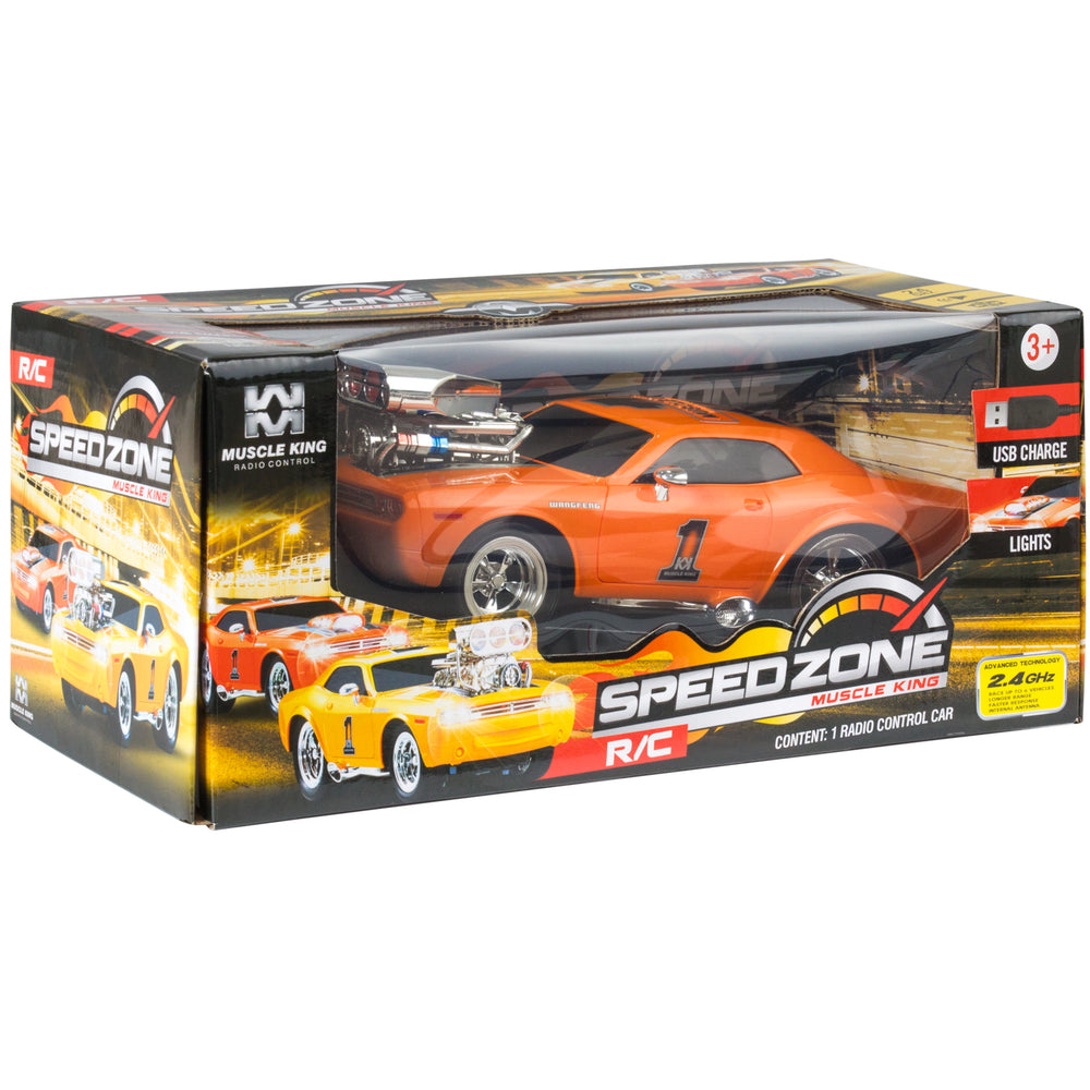 Best Choice Products 24 Ghz Remote Control Drag Race Supercharger Mus Rc Muscle Car Lights Sounds Usb