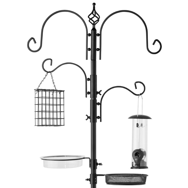 Best Choice Products Garden Deluxe Bird Feeding Station Kit Stand Multi Tier W/ Bird Bath Feeder, 82