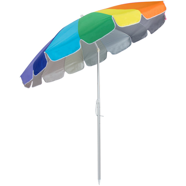 beach umbrella. Delighful Umbrella Rainbow Beach Umbrella W Sand Anchor On
