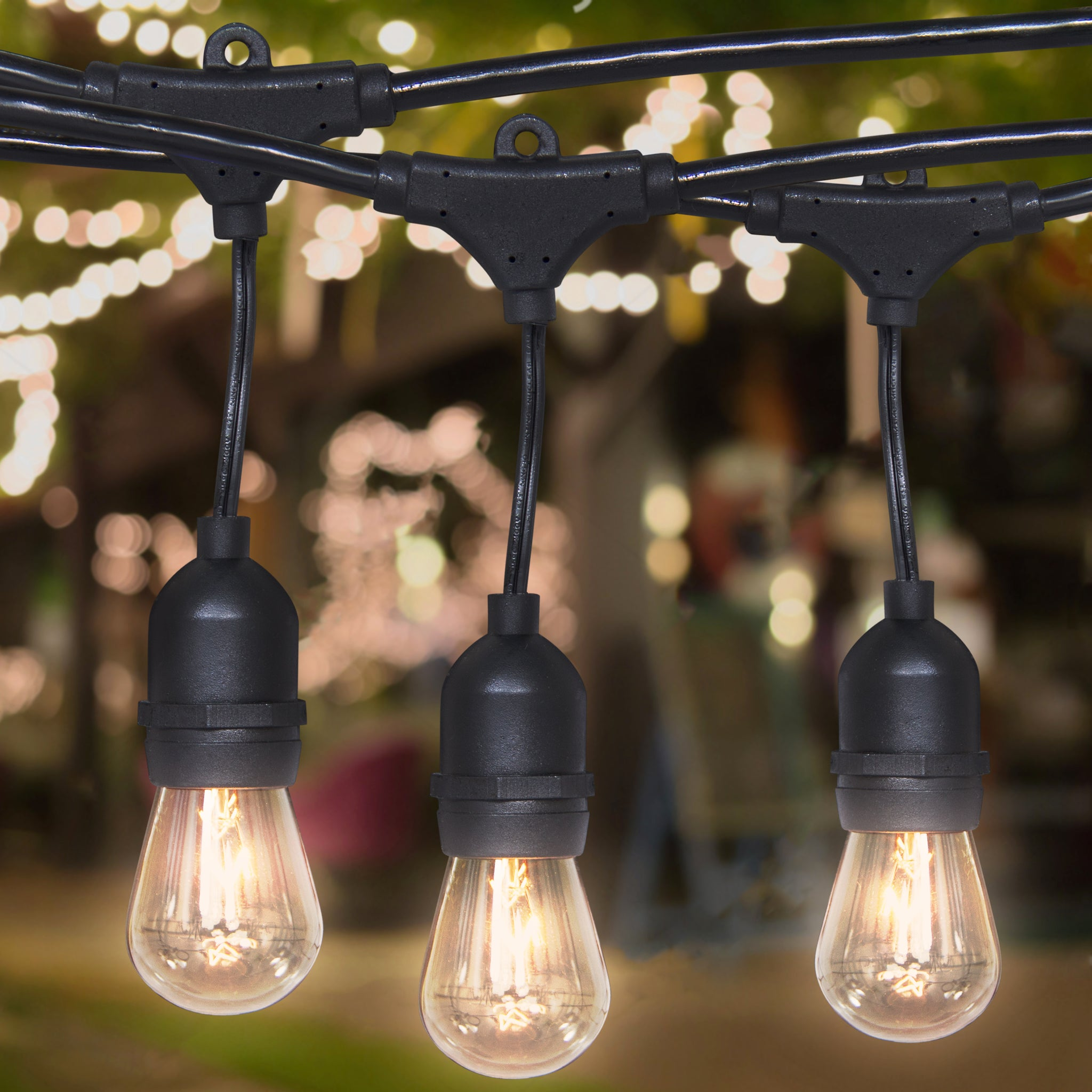 Best Choice Products Commercial Weatherproof 24' Outdoor String Lights 12  Clear Bulbs- Party,