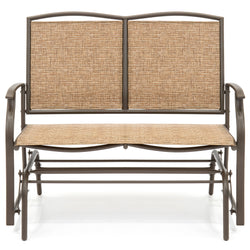 Best Choice Products 2 Person Loveseat Patio Glider Bench Rocker