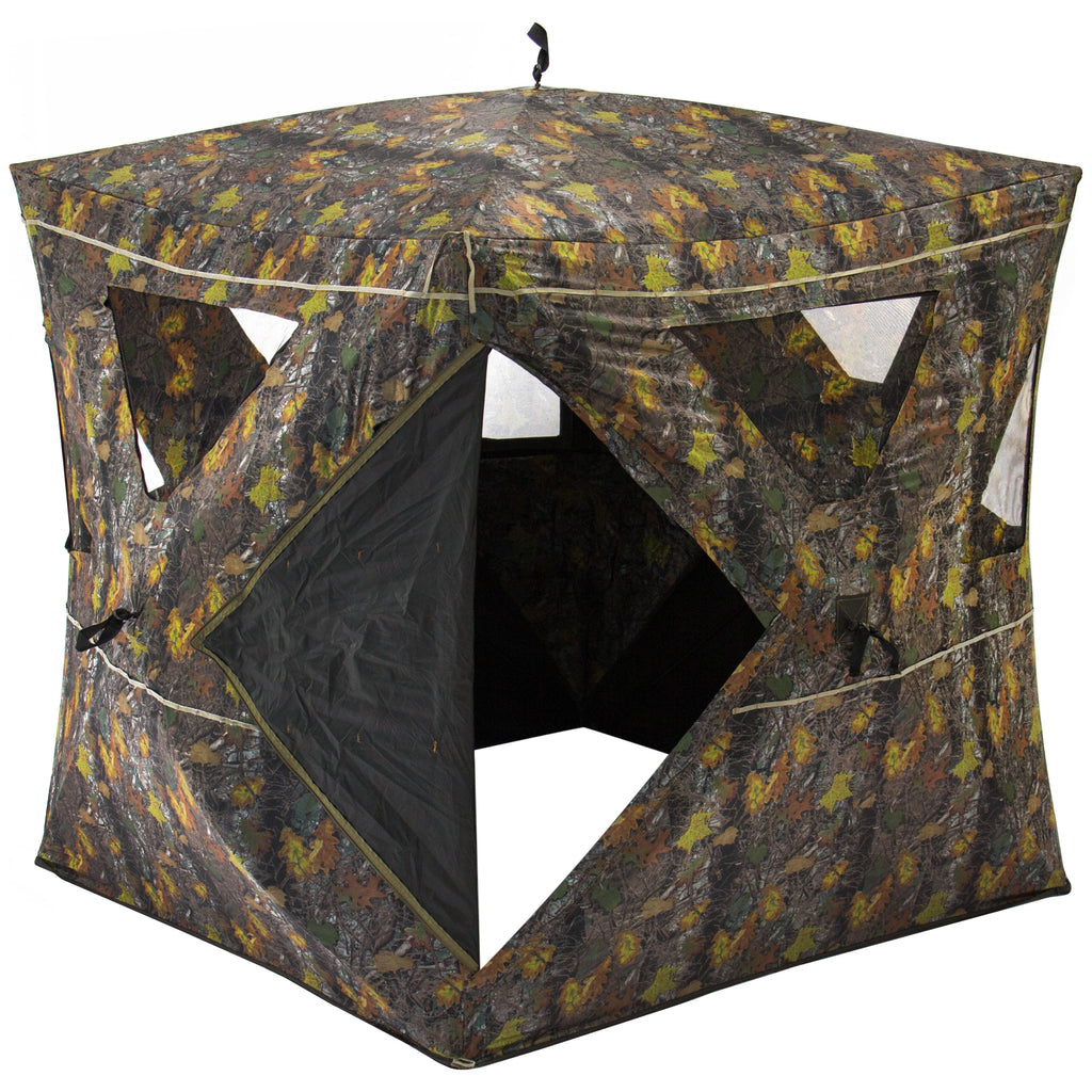Best Choice Products 2-Person Portable Weather-Resistant Hunting Hub Blind W/ 360 Degree Viewing, Carrying Case