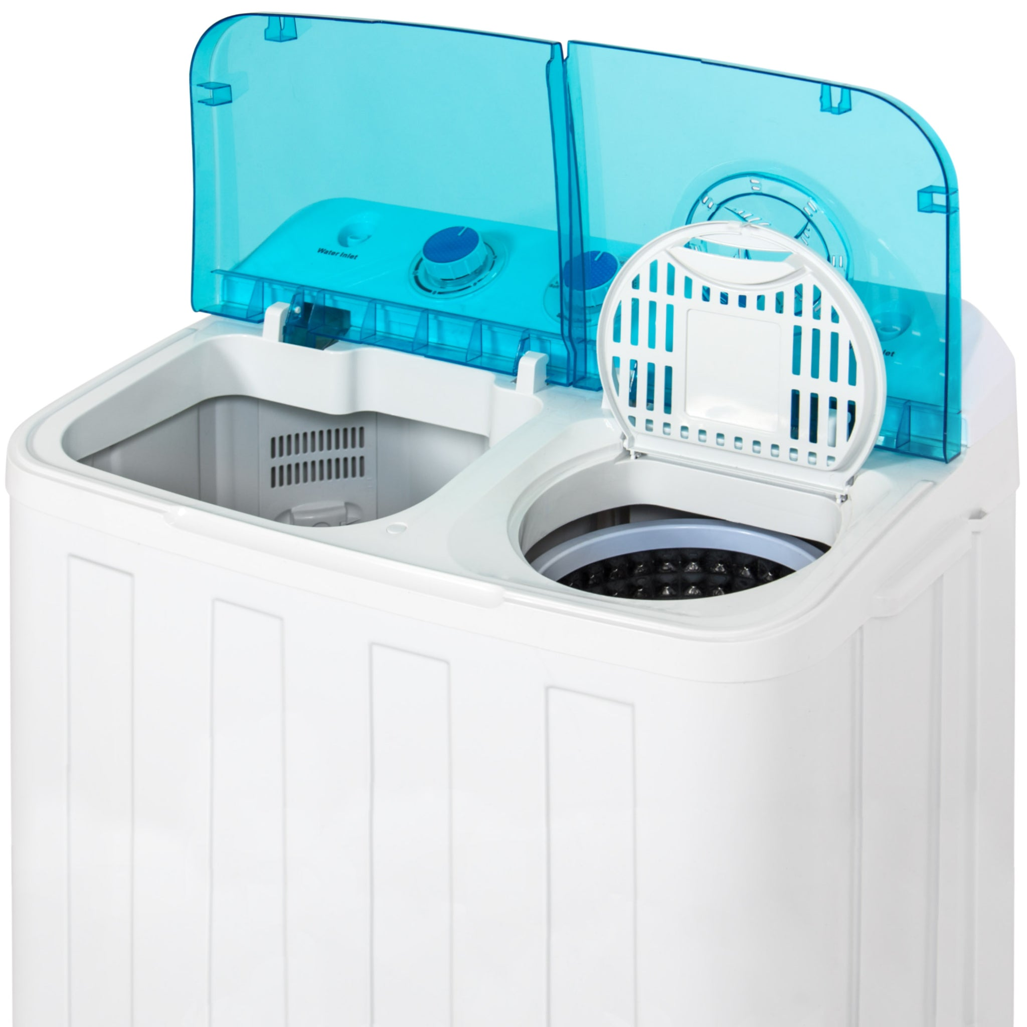 best choice products mini twin tub portable compact washing machine spin dry cycle 12lbs capacity