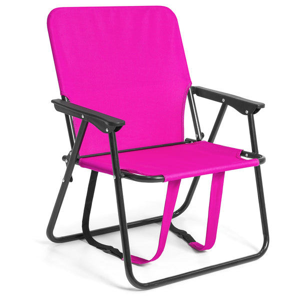 Adjustable Outdoor Backpack Beach Camping Chair - Pink