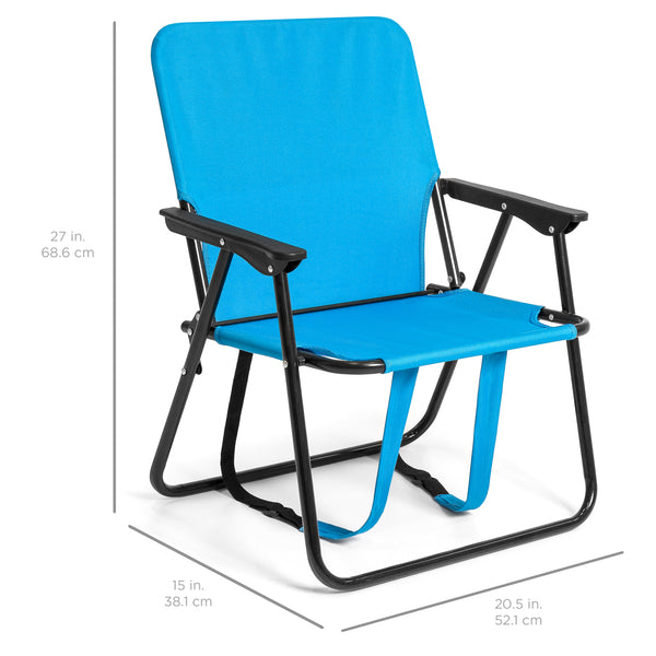Adjustable Outdoor Backpack Beach Camping Chair - Blue
