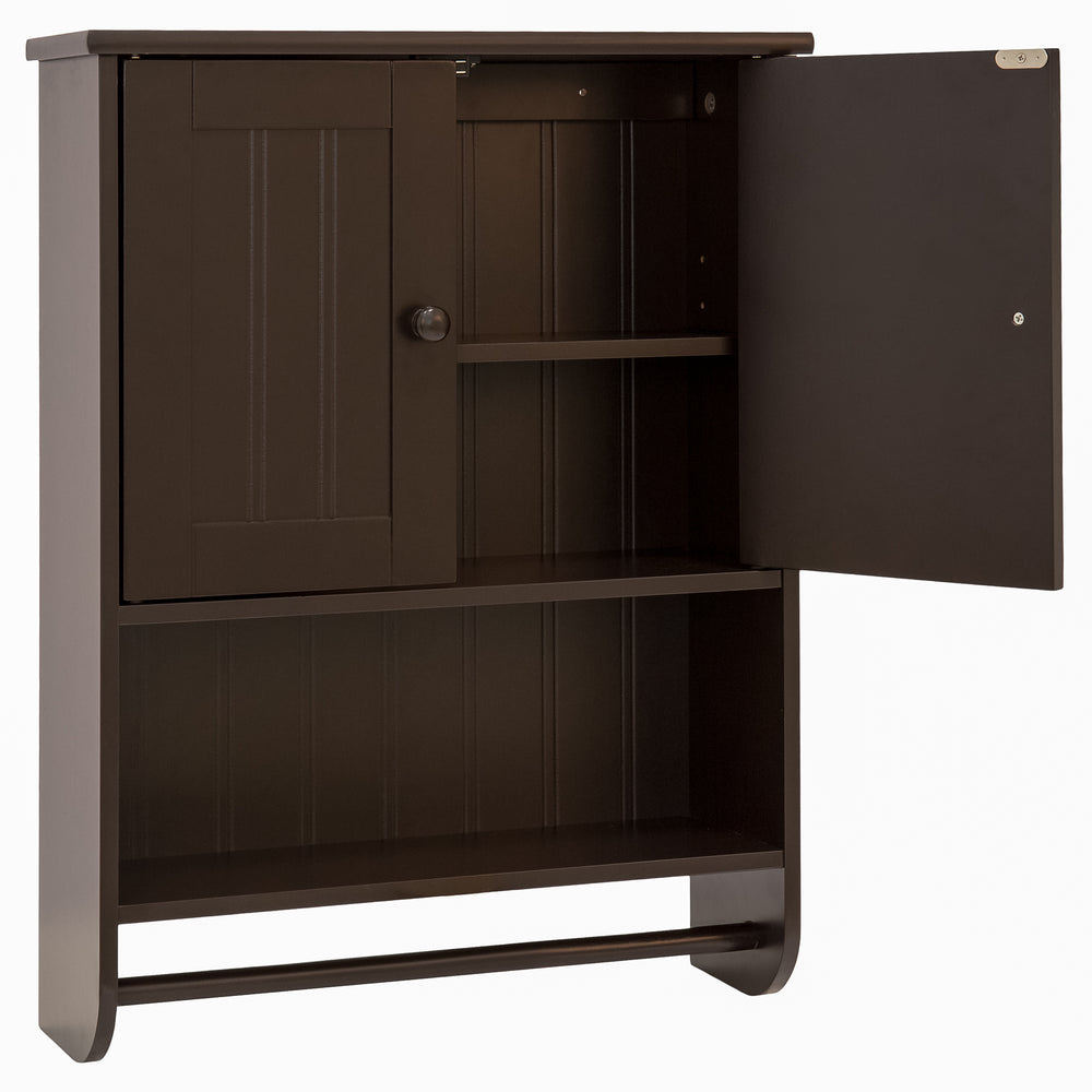 Bathroom Wall Storage Cabinet w/ Double Doors – Best Choice Products