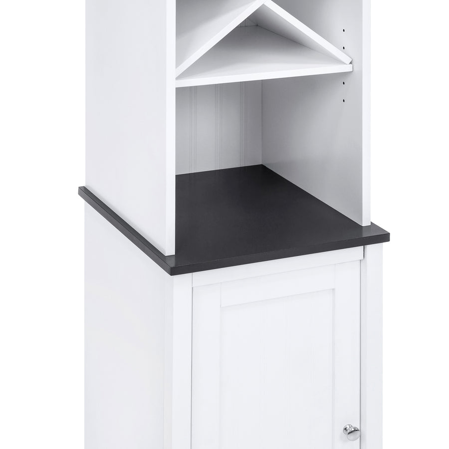 Bathroom Tower Storage Cabinet w/ Adjustable Shelves