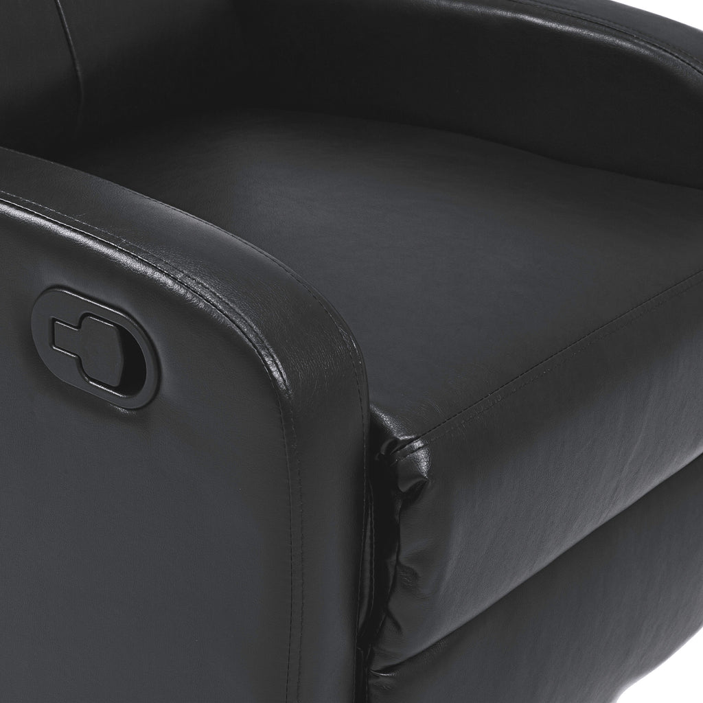 Home Theater Leather Recliner Chair - Black