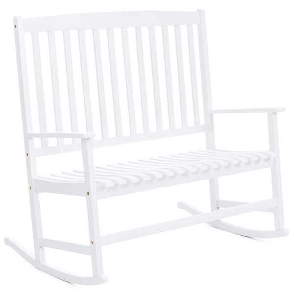 2-Person Rocking Chair - White