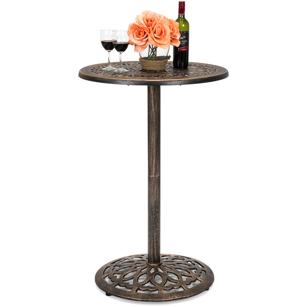 Bar Height Cast Aluminum Bistro Table - Copper