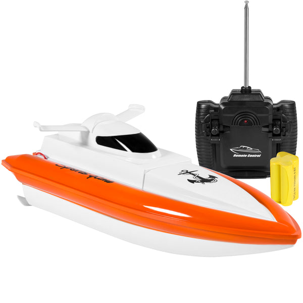 Best Choice Products 27Mhz Remote Control Racing Speed Boat Electric RC Toy w/ UL Charger, Battery, Powered On Water