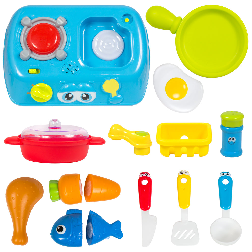 best choice products kids cooking toy kitchen pretend playset suitcase