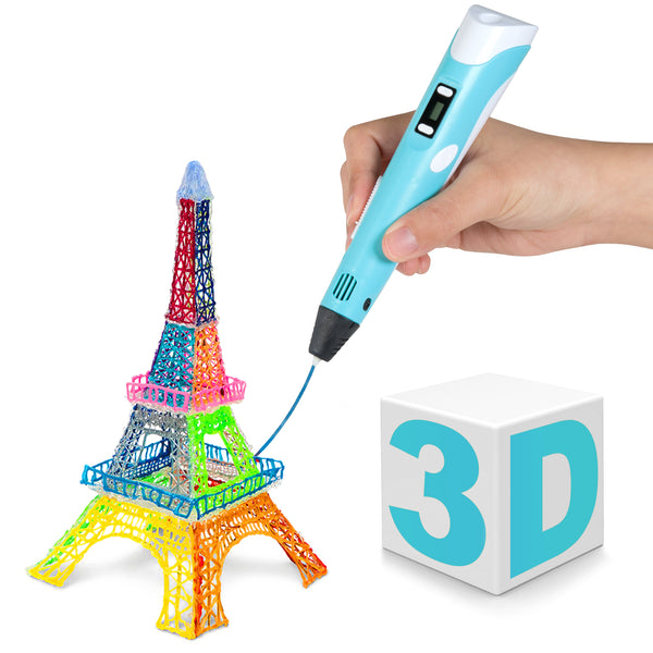3D Printing and Drawing Pen with LCD Screen for Doodling, Art & Craft Making and Education