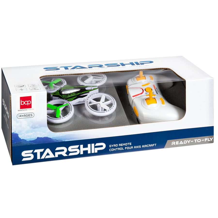 2.4GHz RC Light-Up LED Drone Quadcopter - Multicolor
