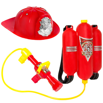 Pretend Firefighter Playset With Water Gun And Helmet