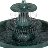 3-Tier Pedestal Bird Bath Fountain w/ Pump
