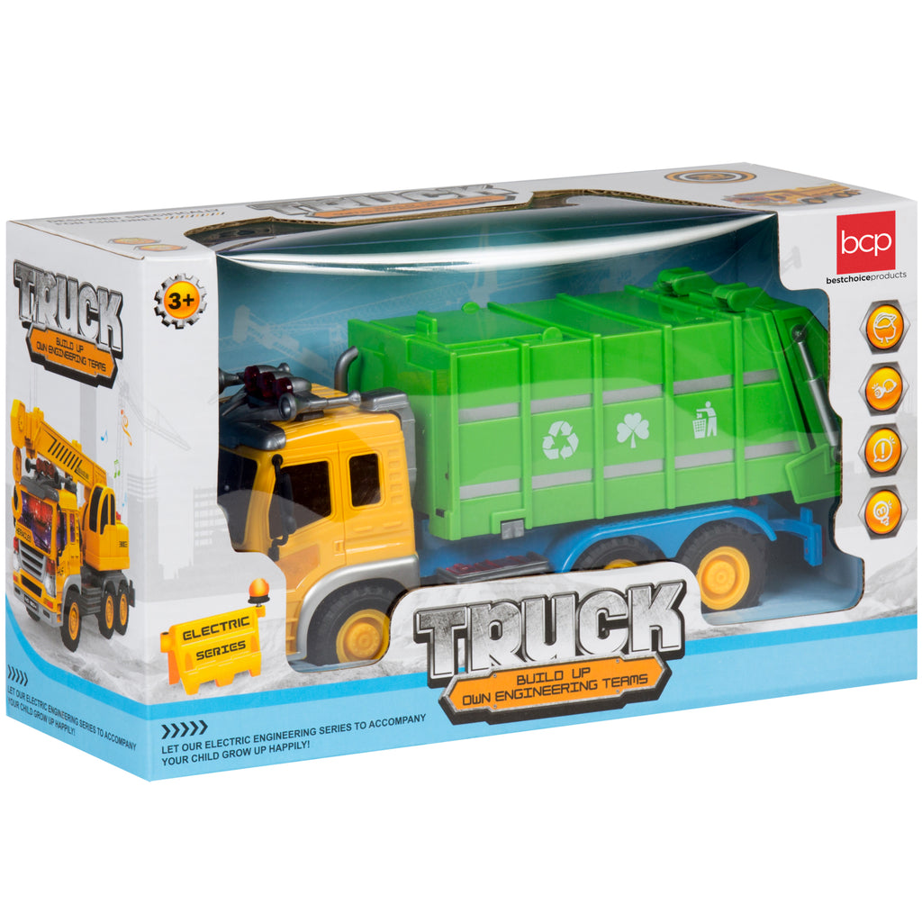 Best Choice Products Friction Powered Push And Go Toy Recycling Truck w/ Lights And Sounds