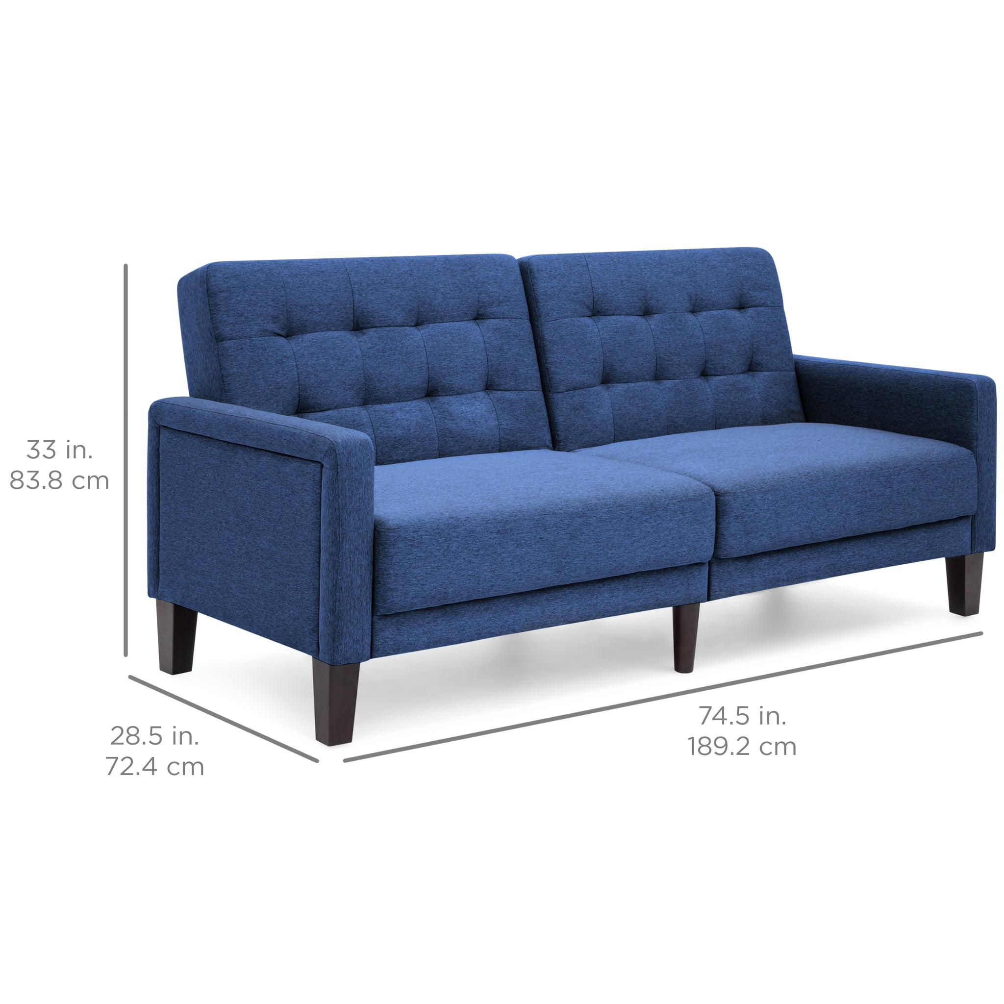 convertible linen upholstered split back futon   navy convertible linen upholstered split back futon   navy  u2013 best      rh   bestchoiceproducts