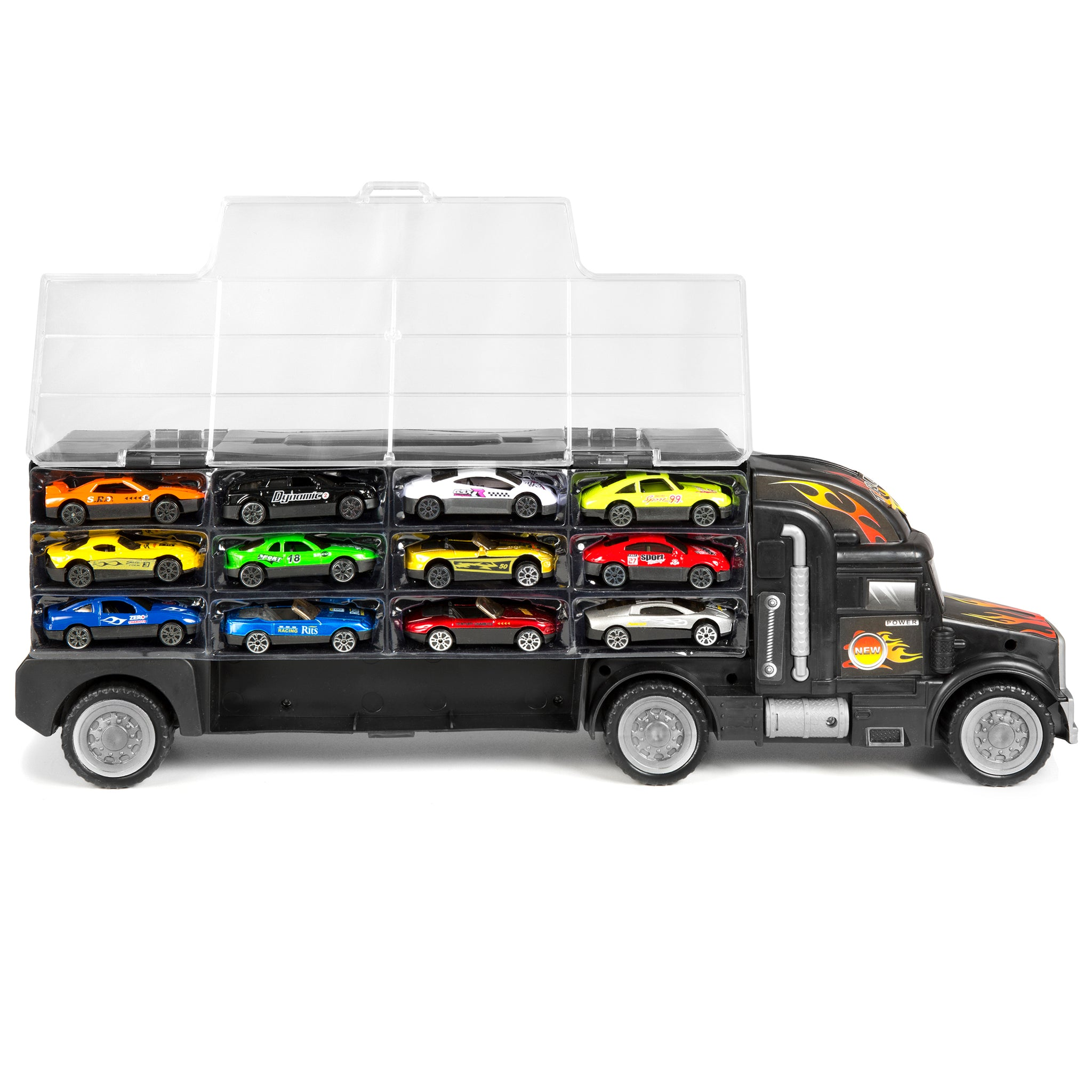 Toy Car Carrier : Best choice products kids sided transport car carrier