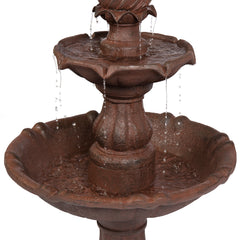 Best Choice Products Outdoor 2-Tier 41 Inch Water Fountain W/ Electric Submersible Pump