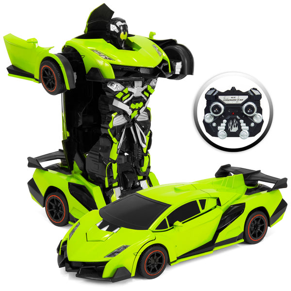 Kids Toy Transformer RC Car (Green)