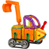 Best Choice Products Kids 162PC Multi Color Magnetic Blocks Tiles Educational STEM Toy Excavator Dump Truck Building Set