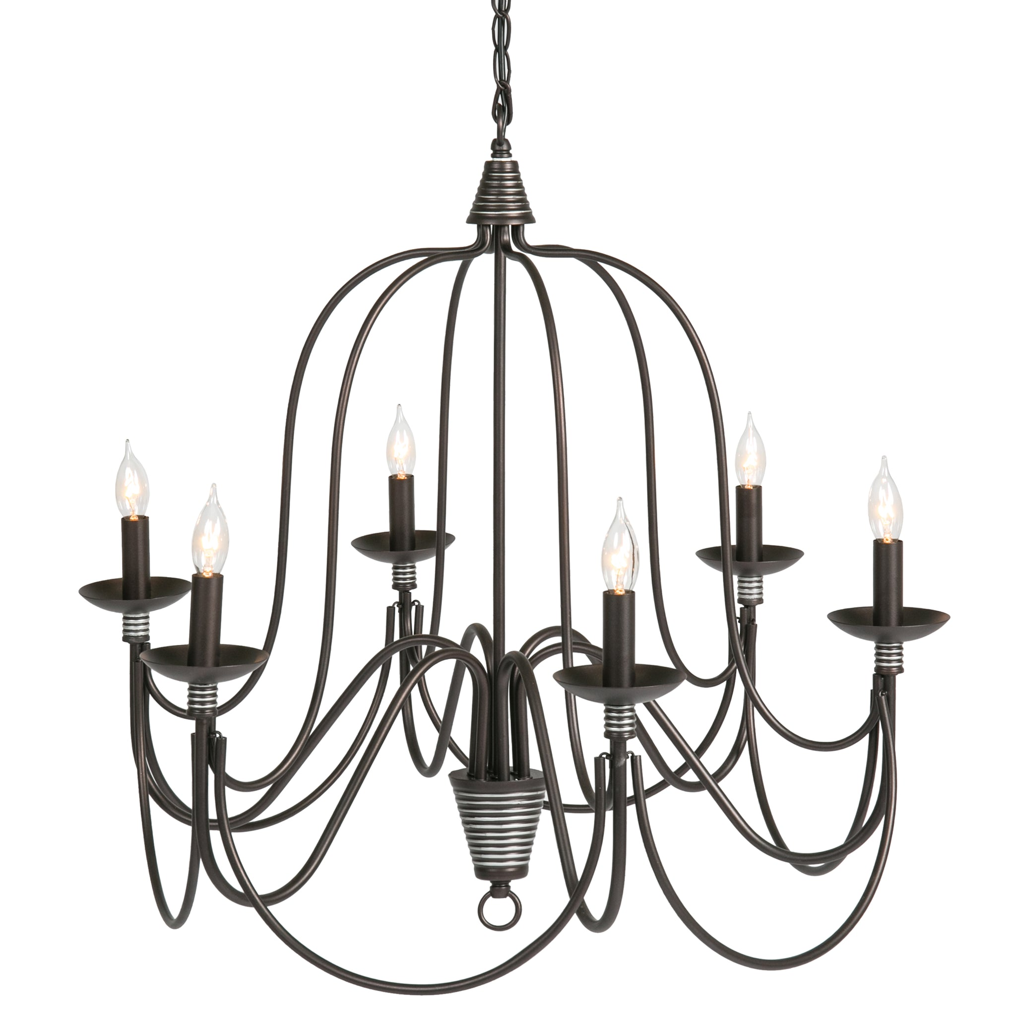 Best Choice Products Home 6 Light Ceiling Candle Chandelier Hanging Fi