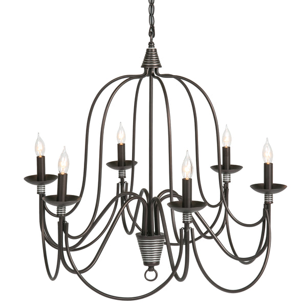 Best Choice Products Home 6-Light Ceiling Candle Chandelier Hanging Fixture W/ Bronze Finish