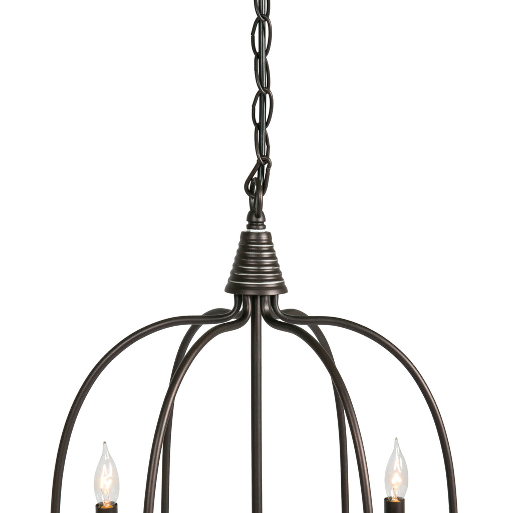 Candle Light Fixture: 25in 6-Light Candle Chandelier Lighting Fixture W/ 41in