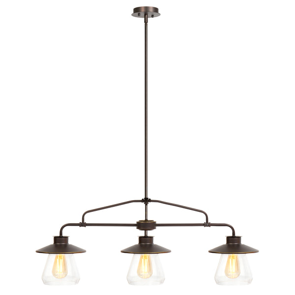 Best Choice Products Vintage Home 3-Light Jar Pendant Chandelier Hanging Light Fixture
