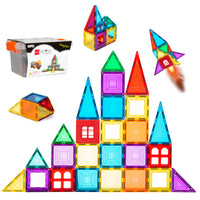 Deals List: BCP 32-Piece Kids Mini Magnetic Tiles Educational STEM Toy Set