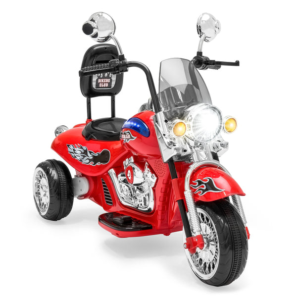 12V Kids Ride-On Motorcycle w/ Built-In Music, MP3 Plug-In - Red