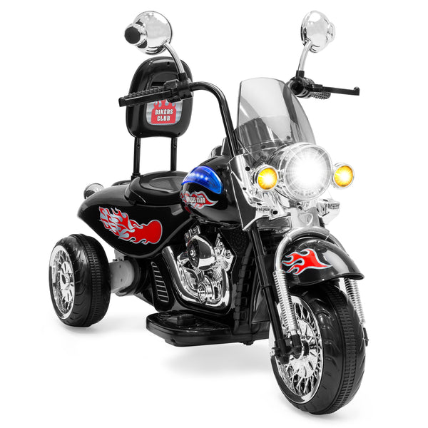 12V Kids Ride-On Motorcycle w/ Built-In Music, MP3 Plug-In - Black