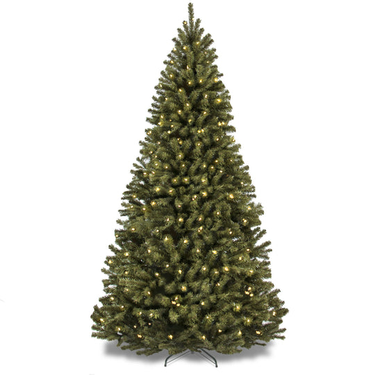 Best Choice Products 6-Foot Pre-Lit Spruce Hinged Artificial Christmas Tree with 250 UL-Certified Incandescent Warm White Lights, Foldable Stand