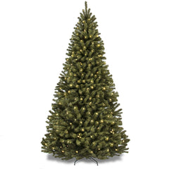 6ft pre lit spruce hinged artificial christmas tree w stand