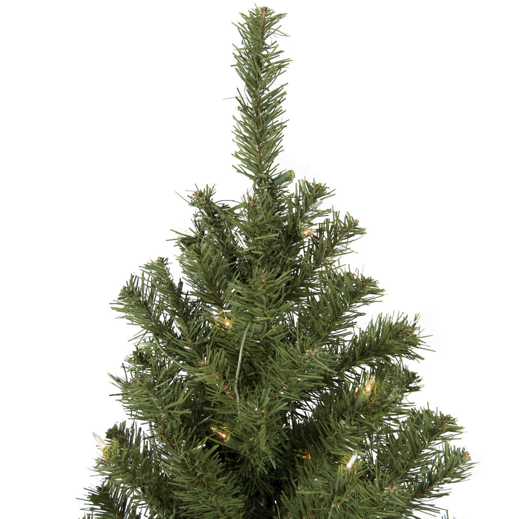 6ft Pre Lit Spruce Hinged Artificial Christmas Tree W Ul
