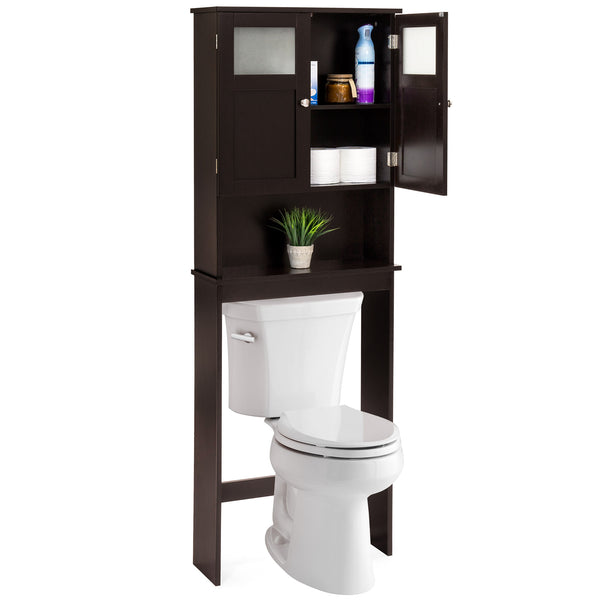 Over-the-Toilet Bathroom Storage Cabinet - Espresso