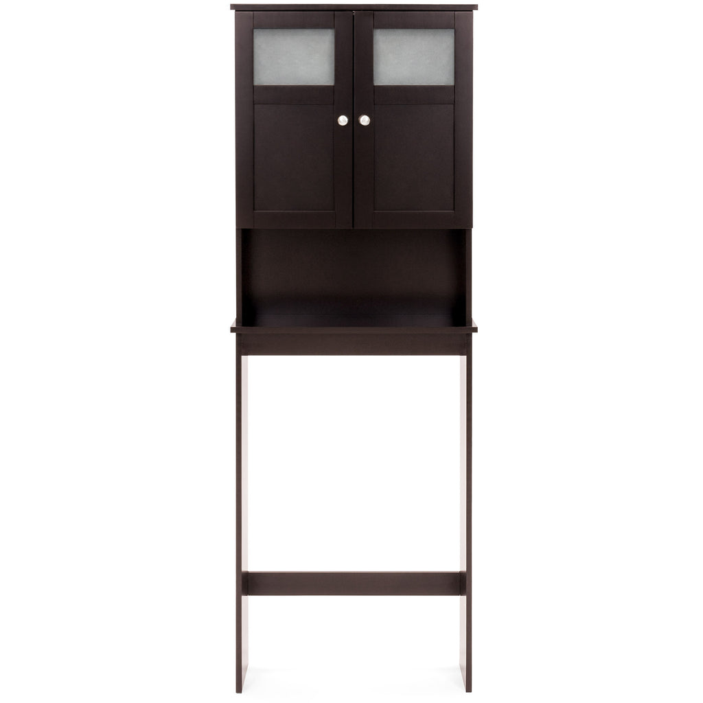 Over The Toilet Bathroom Storage Cabinet Espresso Best Choice Products