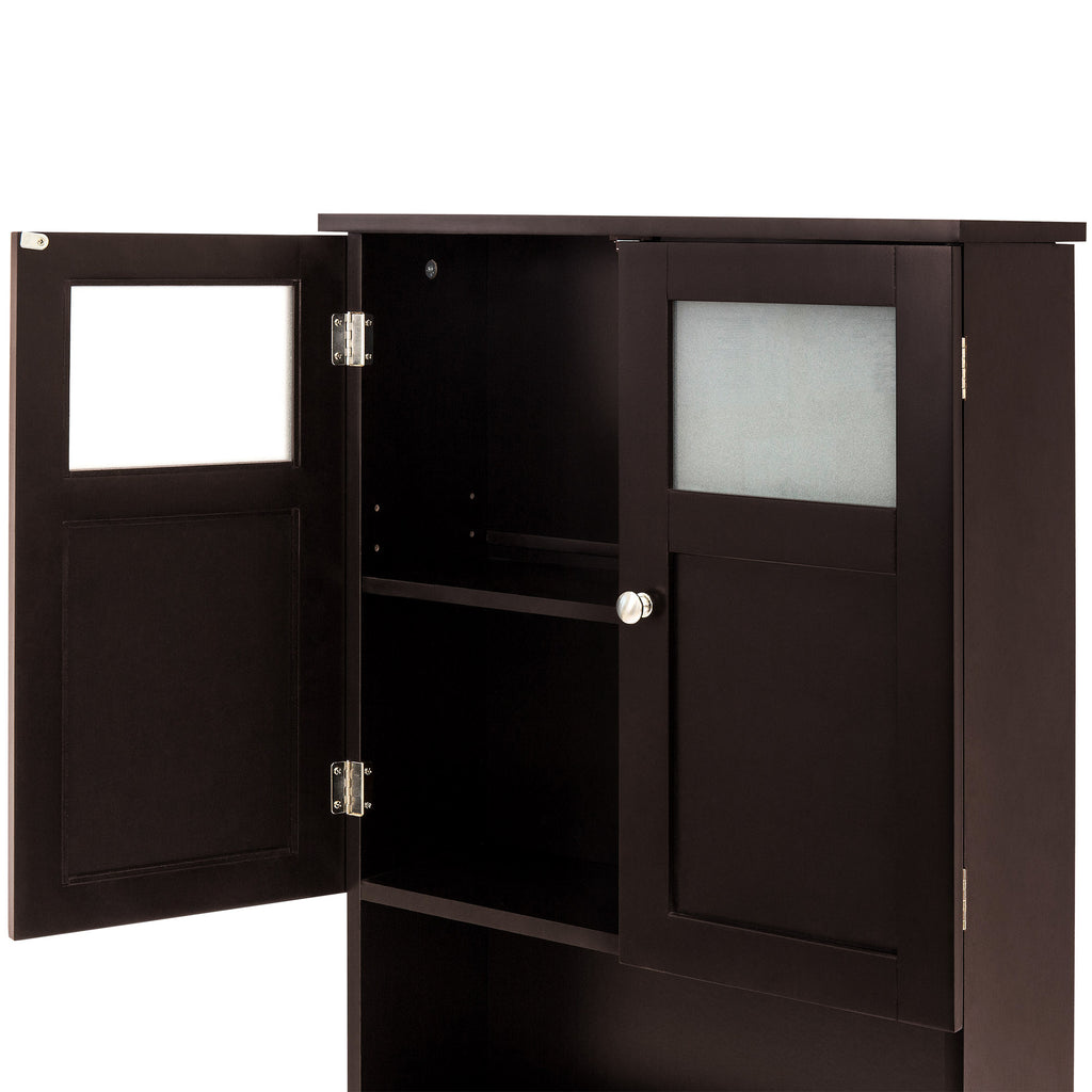 Double Door Over-the-Toilet Bathroom Storage Cabinet