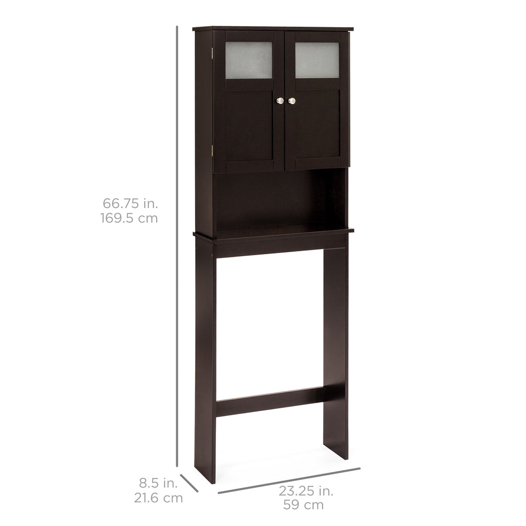 Double Door Over The Toilet Bathroom Storage Cabinet Best Choice Products