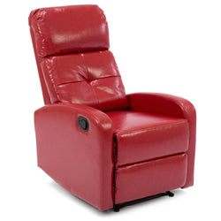 Home Theater Leather Recliner Chair - Red