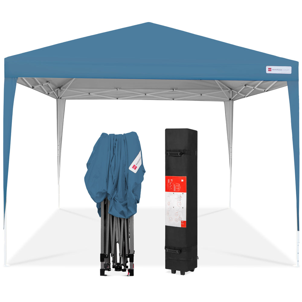 8.5ft Portable Pop Up Canopy - Blue & 8.5ft Portable Pop Up Canopy - Blue u2013 Best Choice Products