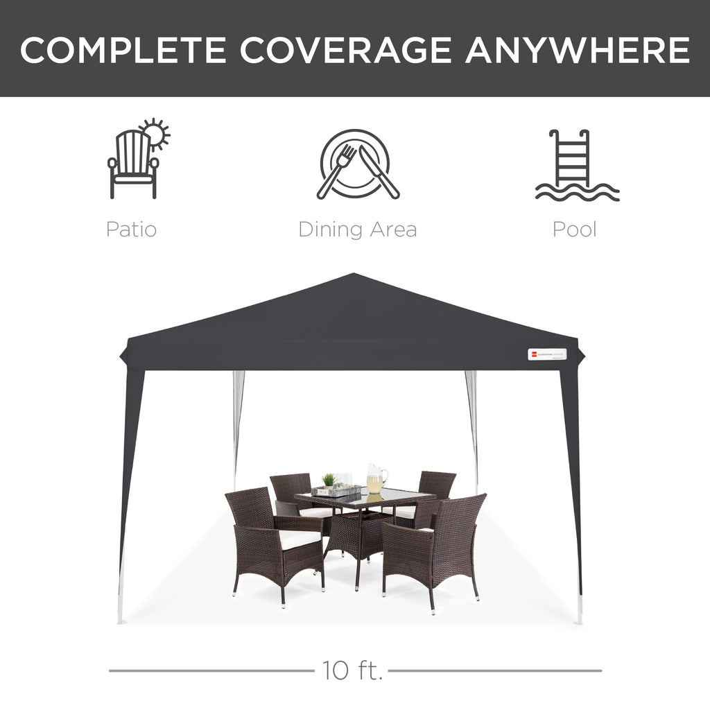 10x10ft Outdoor Portable Pop Up Canopy Tent w/ Carrying Case